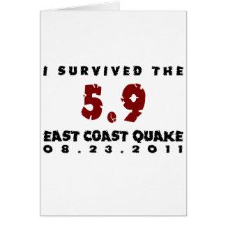 Sobreviví el temblor 2011 de la costa este tarjeton
