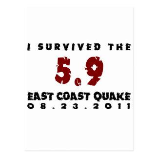 Sobreviví el temblor 2011 de la costa este tarjeta postal