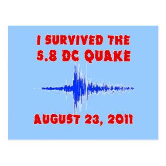 ¡Sobreviví el temblor de 5,8 DC! Camisetas y Tarjeta Postal