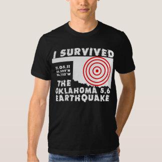 Sobreviví el terremoto de Oklahoma Playeras