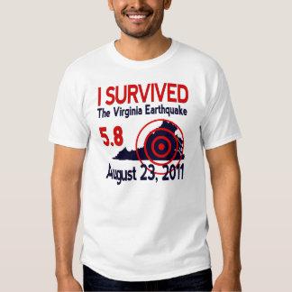 Sobreviví el terremoto de Virginia Playeras