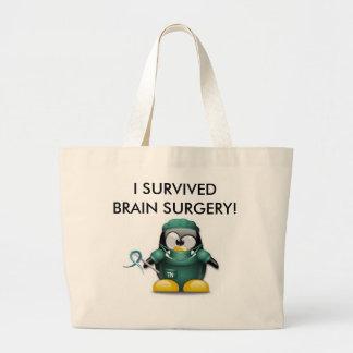 Sobreviví el tote de la neurocirugía bolsa de tela grande