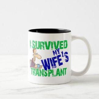 Sobreviví el trasplante de mi esposa taza dos tonos