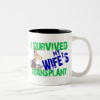 Sobreviví el trasplante de mi esposa taza de café de dos colores