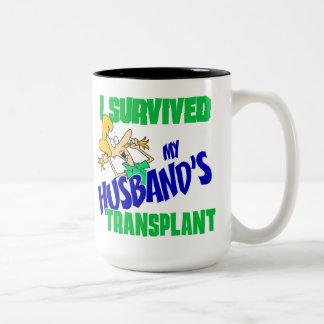 Sobreviví el trasplante de mi marido taza dos tonos