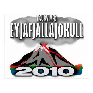 Sobreviví el volcán de Islandia Tarjeta Postal