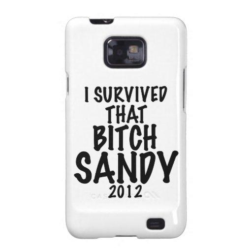Sobreviví esa perra SANDY 2012, huracán Sandy Samsung Galaxy SII Carcasa