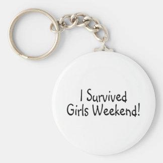 Sobreviví fin de semana de los chicas llavero redondo tipo pin