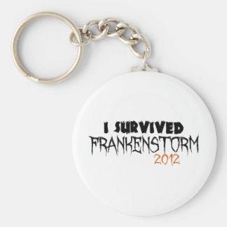 Sobreviví Frankenstorm 2012 Llavero Redondo Tipo Pin