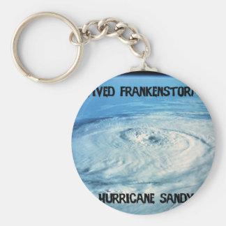 ¡Sobreviví Frankenstorm 2012! Llavero Redondo Tipo Pin