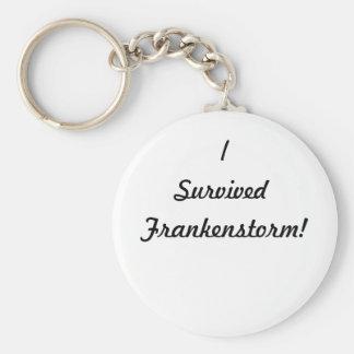 ¡Sobreviví Frankenstorm! Llavero Redondo Tipo Pin