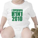 SOBREVIVÍ H1N1 2010 en el verde apenado Traje De Bebé