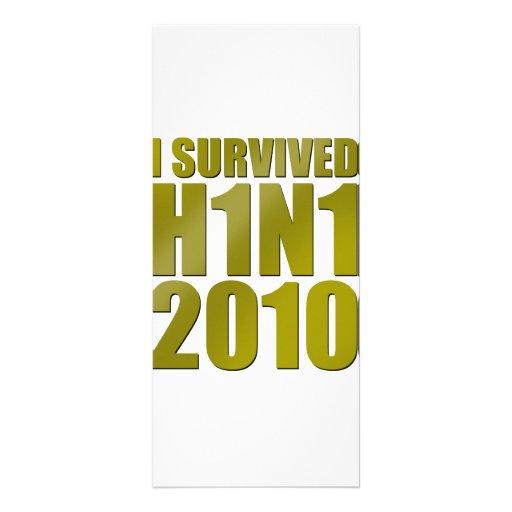 SOBREVIVÍ H1N1 2010 en oro Tarjeta Publicitaria