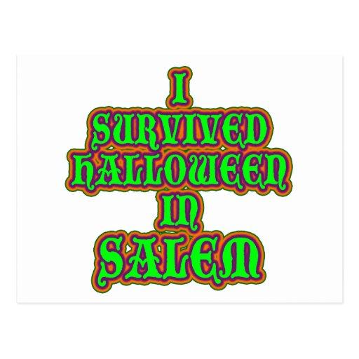 Sobreviví Halloween en Salem Postales