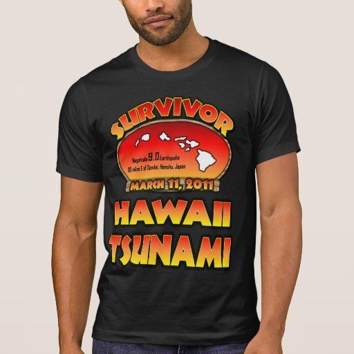 Sobreviví Hawaii tsunami el 3 de marzo de 2011 Remera