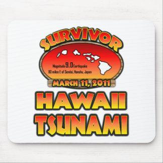 Sobreviví Hawaii tsunami el 3 de marzo de 2011 Alfombrilla De Ratones