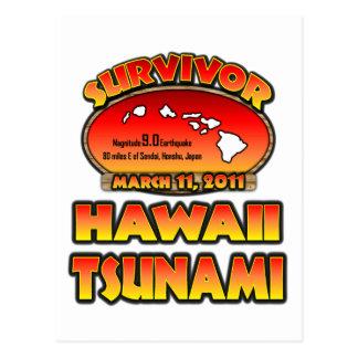 Sobreviví Hawaii tsunami el 3 de marzo de 2011 Tarjeta Postal
