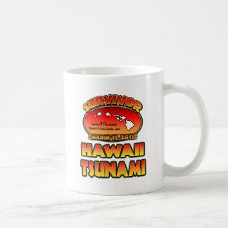 Sobreviví Hawaii tsunami el 3 de marzo de 2011 Tazas