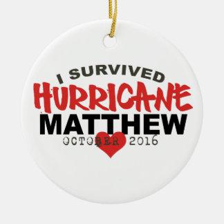 Sobreviví huracán Matthew octubre de 2016 Adorno Navideño Redondo De Cerámica
