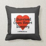 Sobreviví la almohada abierta de la cirugía de cor