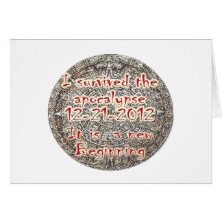 Sobreviví la apocalipsis 12-21-2012 tarjeta de felicitación