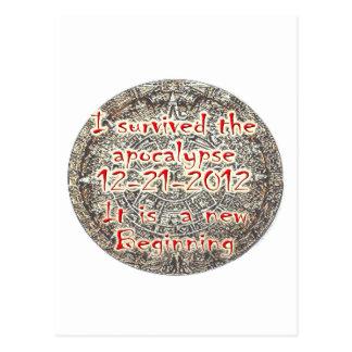 Sobreviví la apocalipsis 12-21-2012 tarjeta postal