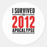 ¡Sobreviví la apocalipsis 2012! Etiquetas Redondas