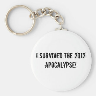 ¡Sobreviví la apocalipsis 2012 Llavero