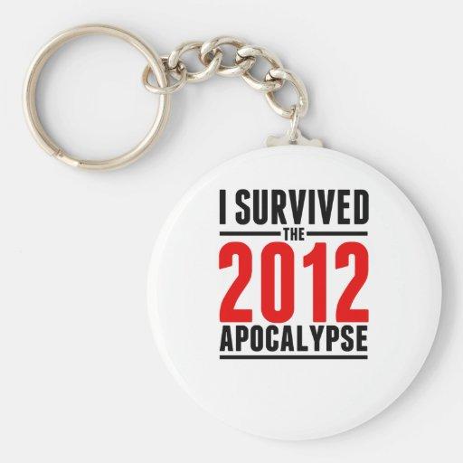 ¡Sobreviví la apocalipsis 2012! Llavero Redondo Tipo Pin