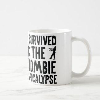 Sobreviví la apocalipsis del zombi tazas de café
