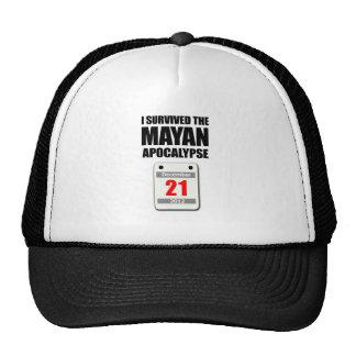 Sobreviví la apocalipsis maya 2012 el calendario gorros bordados