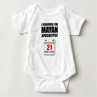 Sobreviví la apocalipsis maya 2012 (el calendario) polera