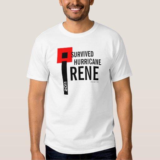 Sobreviví la bandera de la camiseta 7 de Irene del Playera