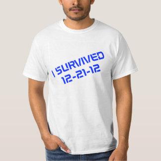 Sobreviví la camiseta blanca 12-21-12 (azul)