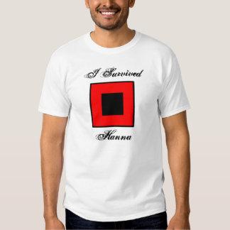 Sobreviví la camiseta de Hanna - frente y parte Playeras