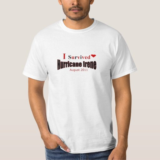Sobreviví la camiseta de Irene del huracán Polera