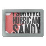 Sobreviví la camiseta de Sandy del huracán Hebillas De Cinturon