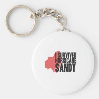 Sobreviví la camiseta de Sandy del huracán Llavero Personalizado