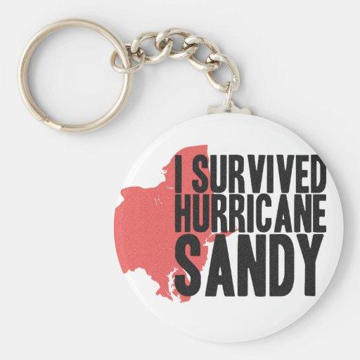 Sobreviví la camiseta de Sandy del huracán Llaveros