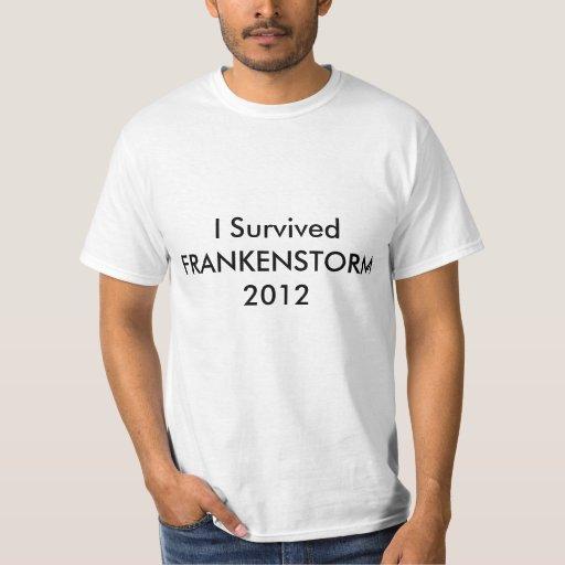 Sobreviví la camiseta de Sandy FRANKENSTORM del Playera