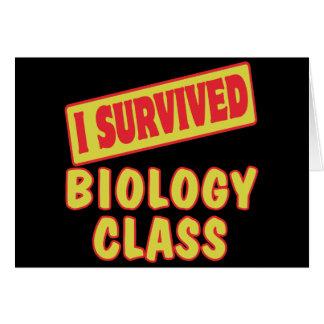 SOBREVIVÍ LA CLASE DE BIOLOGÍA TARJETAS