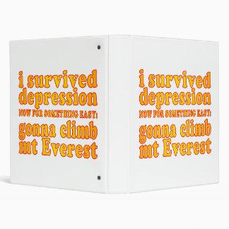 Sobreviví la depresión - ahora yendo a subir Mt Ev