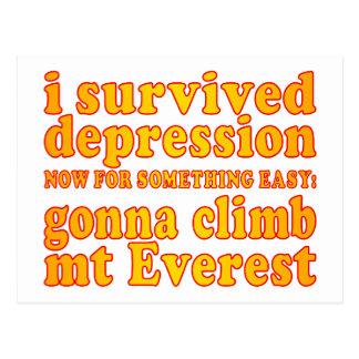 Sobreviví la depresión - ahora yendo a subir Mt Postales