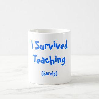 Sobreviví la enseñanza taza de café