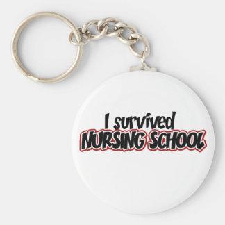 Sobreviví la escuela de enfermería llavero personalizado