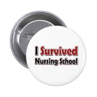 Sobreviví la escuela de enfermería pin redondo de 2 pulgadas