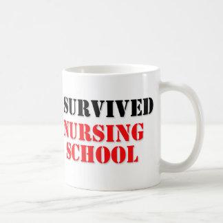 Sobreviví la escuela de enfermería taza de café