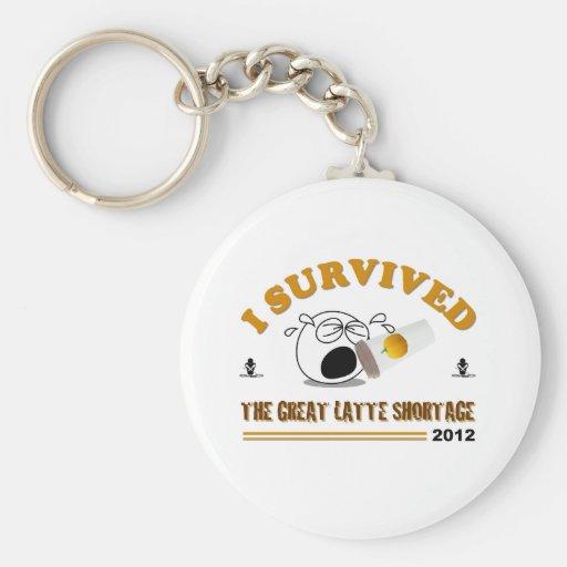Sobreviví la gran escasez de Latte - 2012 Llaveros