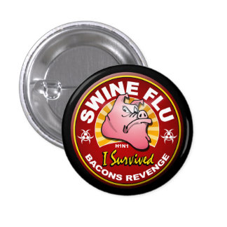 Sobreviví la gripe de los cerdos - H1N1 Pins
