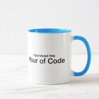Sobreviví la hora de código taza